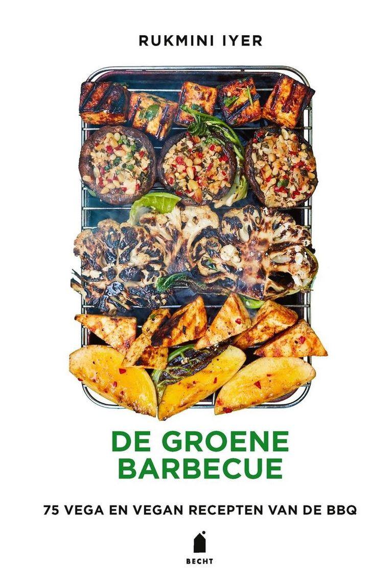 De groene barbecue. Beeld