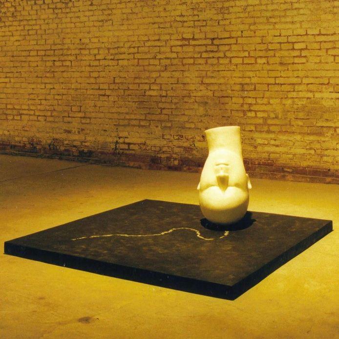 Wies de Bles: kunstwerk is/was  150x 60 cm. materialen: hout. Polyester, parafine, kleurstof. Eigendom Zeeuws Museum.