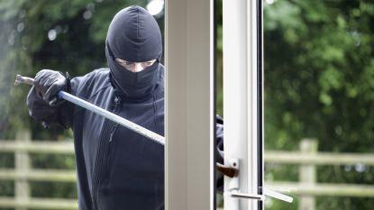Betrapte inbrekers scheuren weg in grijze BMW in Melden
