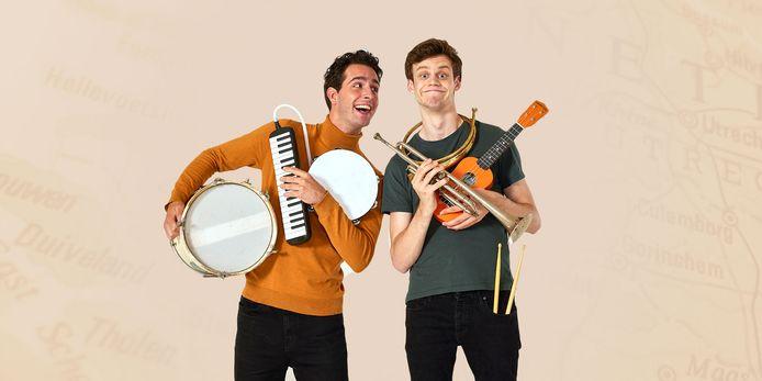 Merijn Oerlemans (links) speelt de rol van Jan in de landelijke jeugdvoorstelling 'Willem Junior' over Willem van Oranje.