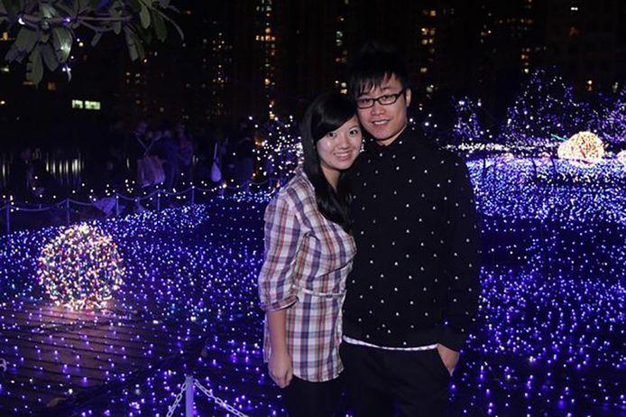 Tracy Yau Hiu-tung en haar vriend Edmund Au Yeung.
