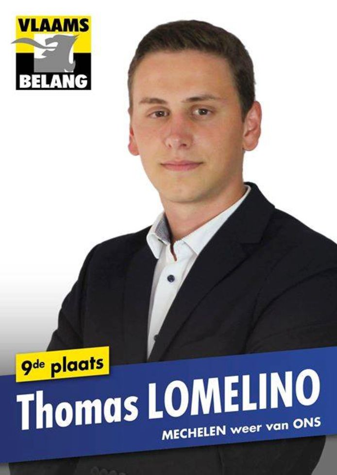 Bij de jongste gemeenteraadsverkiezingen kwam Lomelino nog op voor het Vlaams Belang in Mechelen. Hij stond toen op de negende plaats op de lijst