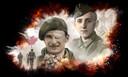 Léo Major met zijn kenmerkende ooglapje en de Duitse soldaat Hans Kürten staan centraal in de tentoonstelling 'Hij of ik'.