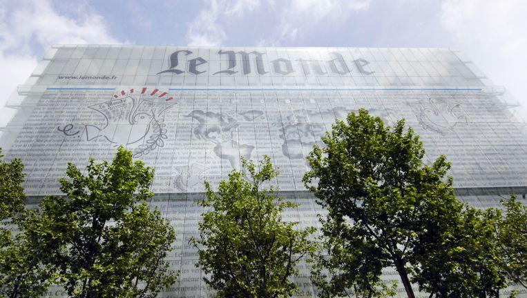 Het hoofdkantoor van Le Monde. Foto AFP Beeld AFP