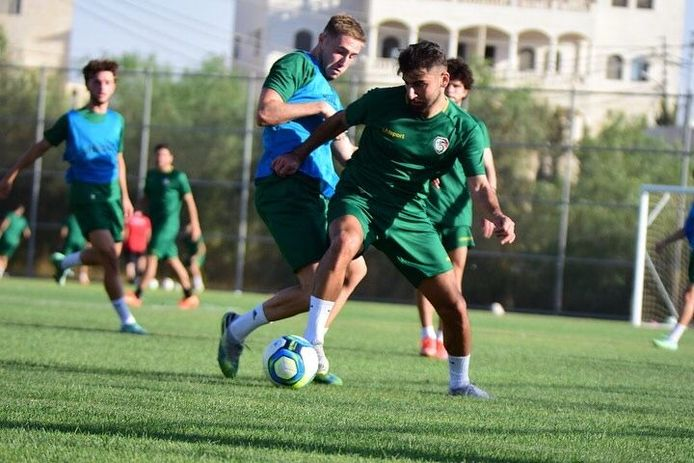 Peter Ilia tijdens het trainingskamp van Syrië onder 23 in Jordanië.