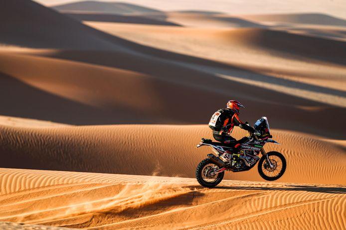 Mirjam Pol uit Borne, in actie tijdens de 41ste editie van Dakar Rally in Saoedi-Arabië.