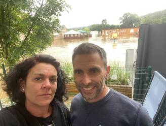"""Wateroverlast treft ook camping van Roeselarenaars Severine en Stijn in Hotton: """"Negen blokhutten rijp voor de schroot"""""""