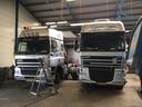 In de werkplaats van Truck Service Bergharen.