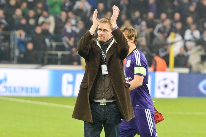 Hannu Tihinen in 2013 bij een bezoek aan Anderlecht.