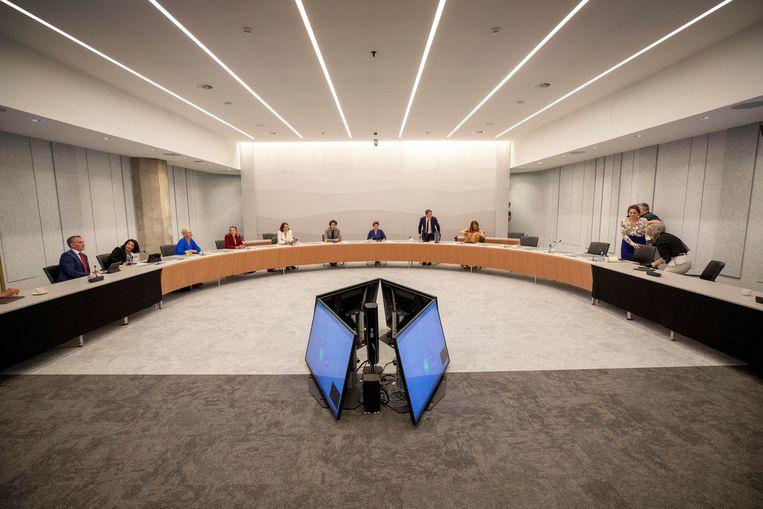 Nederland, Den Haag, Tweede Kamer 7 september. 2021. Thorbeckezaal.   Beeld Werry Crone