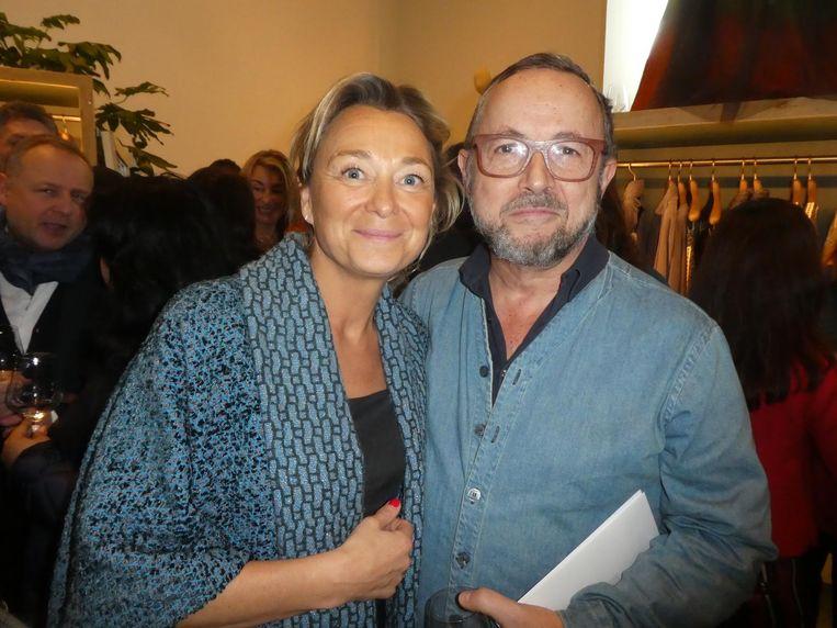 Madame de salon Jessica van der Drift en Juan Varez, de partner van Taminiau. Van der Drift: