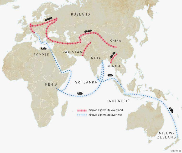 De nieuwe zijderoutes over land en over zee Beeld Sander Soewargana, Trouw