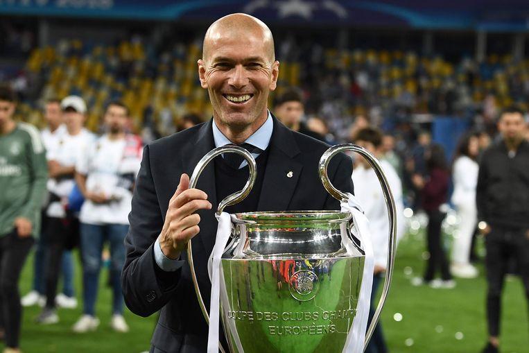 Zidane won zaterdag de Champions League voor de derde opeenvolgende keer.