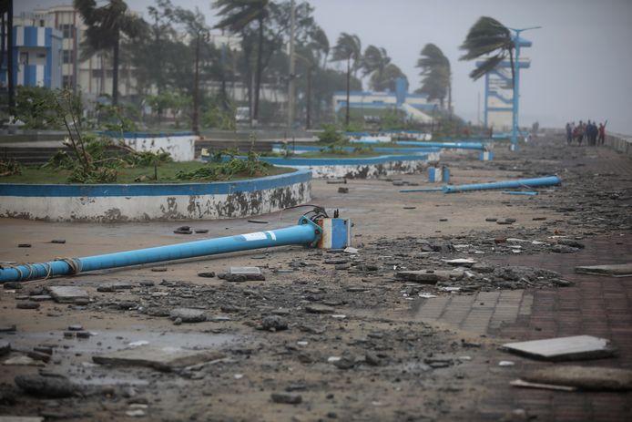 De schade in Odisha was groot nadat cyclonen Yaas en Tauktae in mei de regio troffen.
