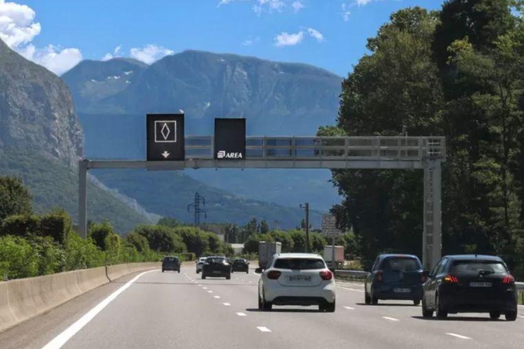 Het nieuwe verkeersbord in Frankrijk Beeld APRR