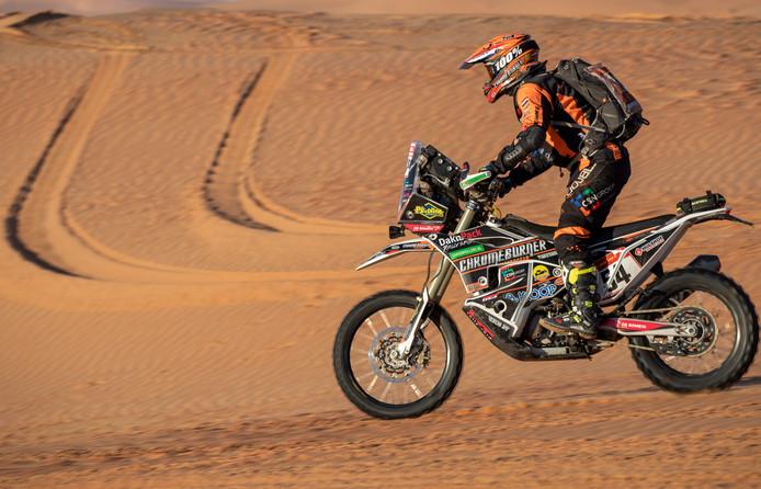 Mirjam Pol in actie tijdens haar achtste Dakar Rally.