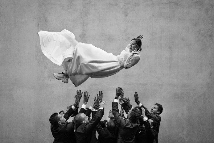 Huwelijksfoto gemaakt door Yves Schepers