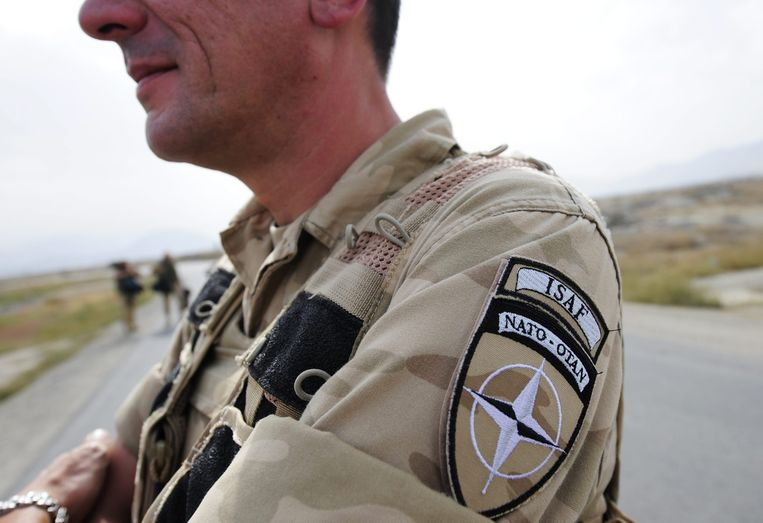 Archiefbeeld van een Belgische militair in Afghanistan die deel uitmaakte van ISAF, een door de NAVO geleide militaire missie in het eerdergenoemde land.  Beeld BELGA
