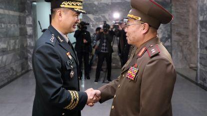 Noord- en Zuid-Korea sluiten wachtposten langs beide zijden van de grens