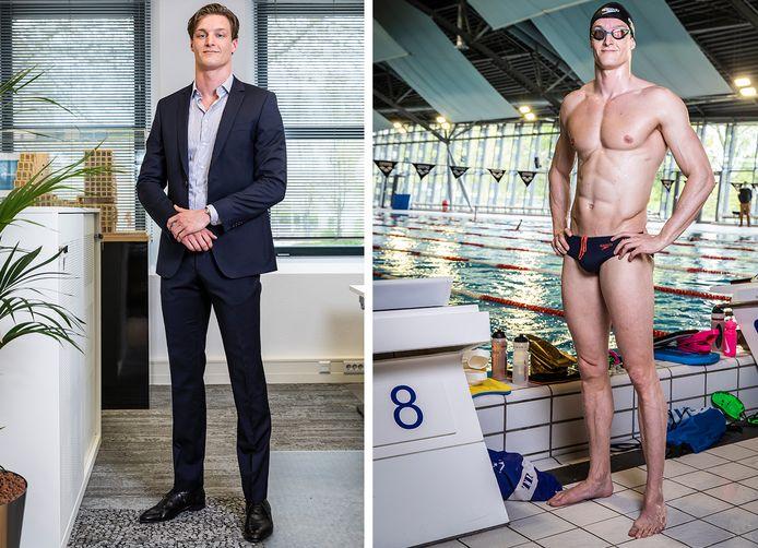 Thom de Boer als vastgoedman en zwemmer.