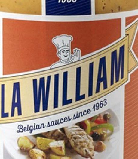 La William rappelle certaines sauces sur le marché belge