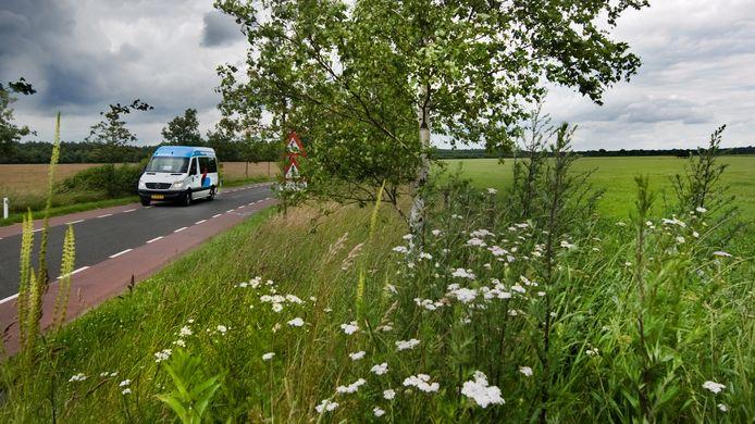 De buurtbus in de gemeente Renkum is onderweg van A naar B.