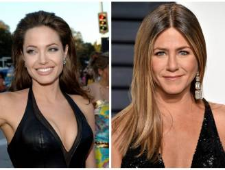 Aartsrivales Angelina en Jennifer samen op de Golden Globes
