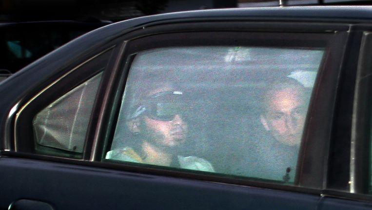 Verdachte Samir A. arriveert bij de 'bunker' in Amsterdam, in oktober 2006 Beeld anp
