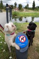 Gebied in het Sijtwendepark waar honden niet toegestaan zijn.