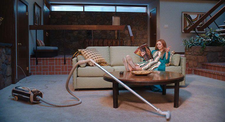 Wanda in haar huishouden in de jaren '70-aflevering.  Beeld Marvel Studios