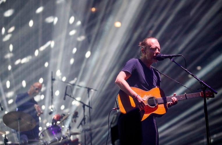 Thom Yorke tijdens een optreden in Chicago Beeld ANP