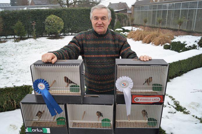 Jacques Huvaere viel op het WK in de prijzen met zijn vogels