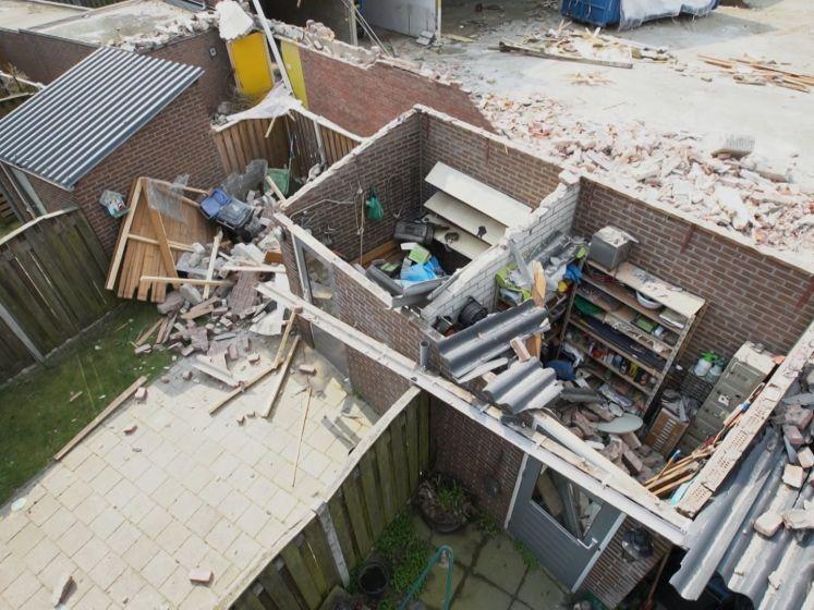 Iets te enthousiast sloopbedrijf zorgt voor enorme ravage in Helmondse wijk