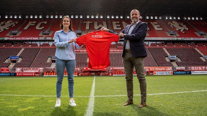 Caitlin Dijkstra speelt komend seizoen voor FC Twente Vrouwen.