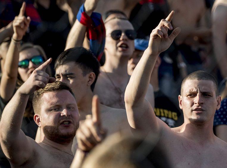 Supporters van CSKA Moskou. Beeld AFP