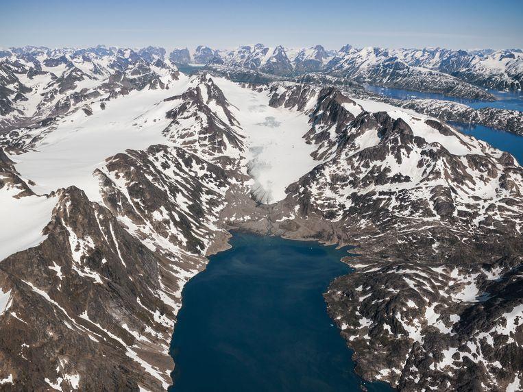 Dezelfde gletsjer in 2013 Beeld Hans Henrik Tholstrup / Natural History Museum of Denmark