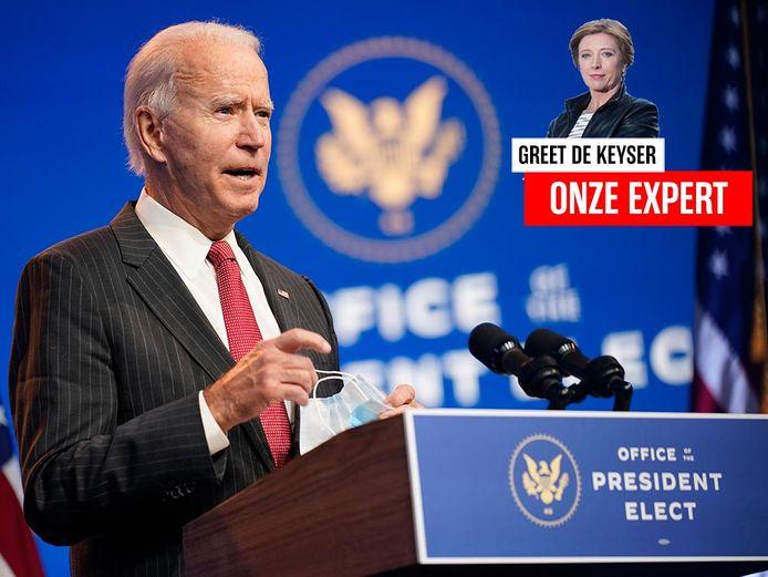 Joe Biden, de president-elect van de Verenigde Staten.