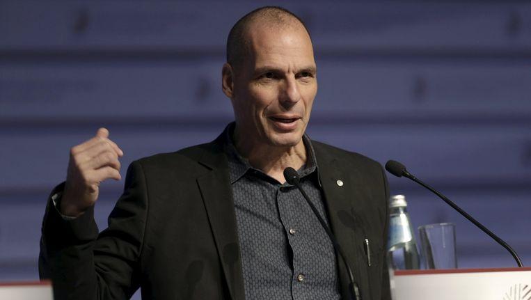 De Griekse minister van Financiën Yanis Varoufakis. Beeld REUTERS