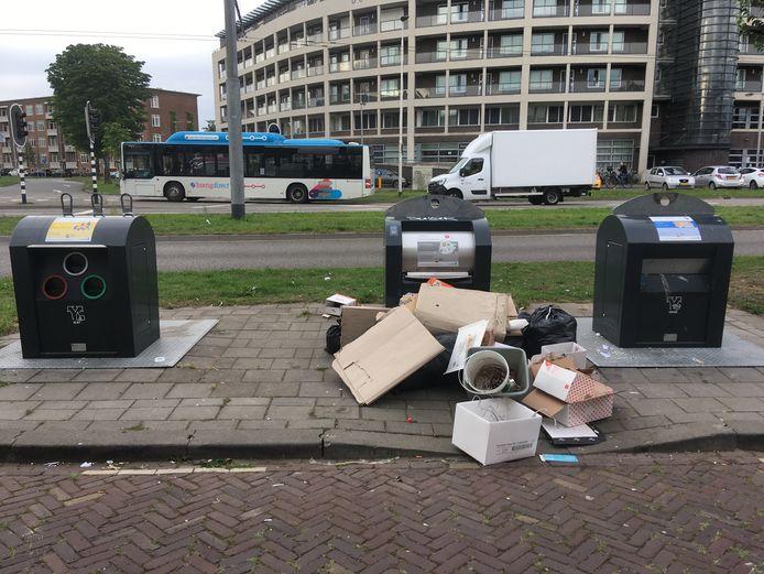 Archieffoto van zwerfafval in Arnhem.