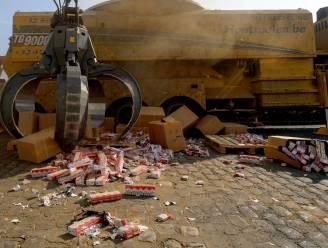 89,5 miljoen namaaksigaretten vernietigd in Antwerpen