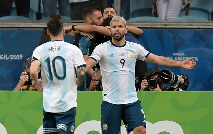 Messi en Agüero bij Argentijnse nationale ploeg.