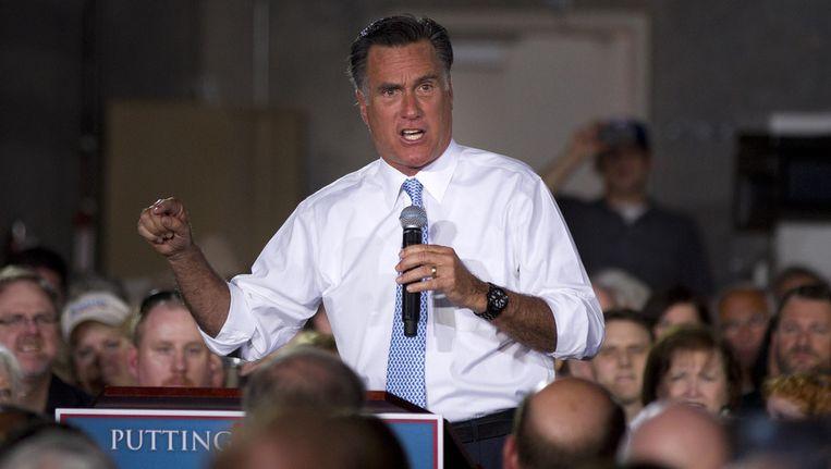 De Republikeinse presidentskandidaat Mitt Romney. Beeld ap