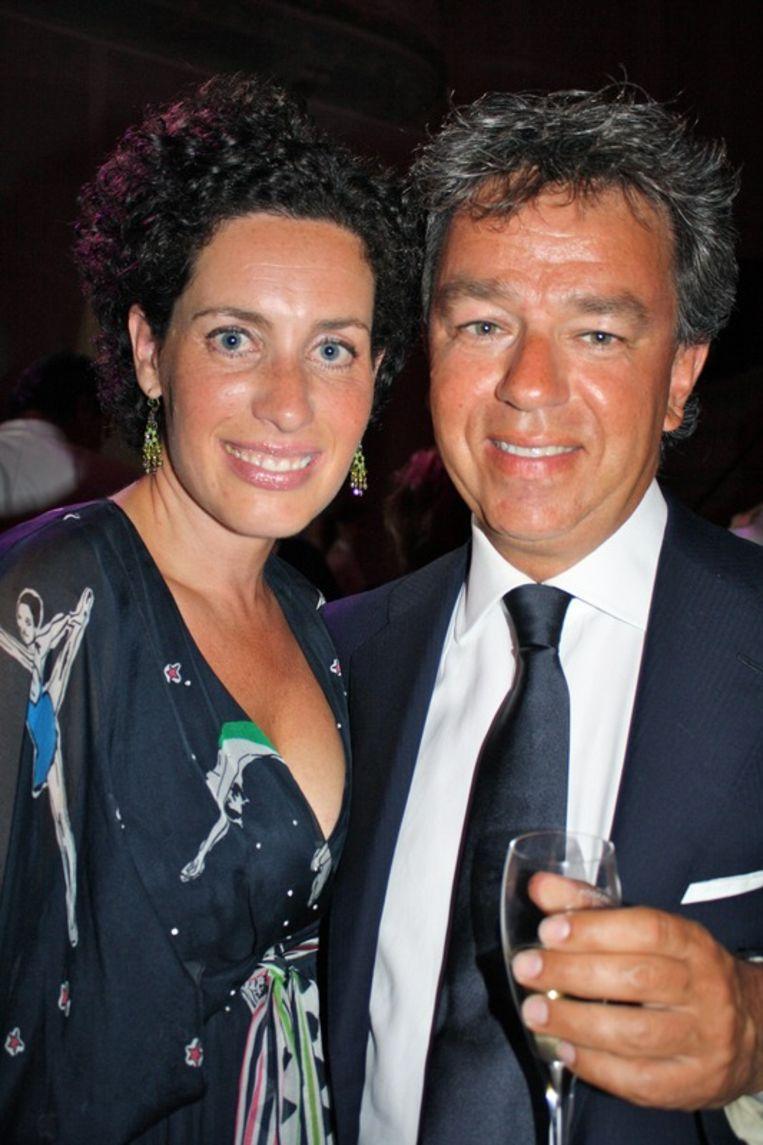 Yves Gijrath, directeur van Gijrath Media Group, met zijn vrouw  (journalist) Tamara Gijrath.<br /> Beeld