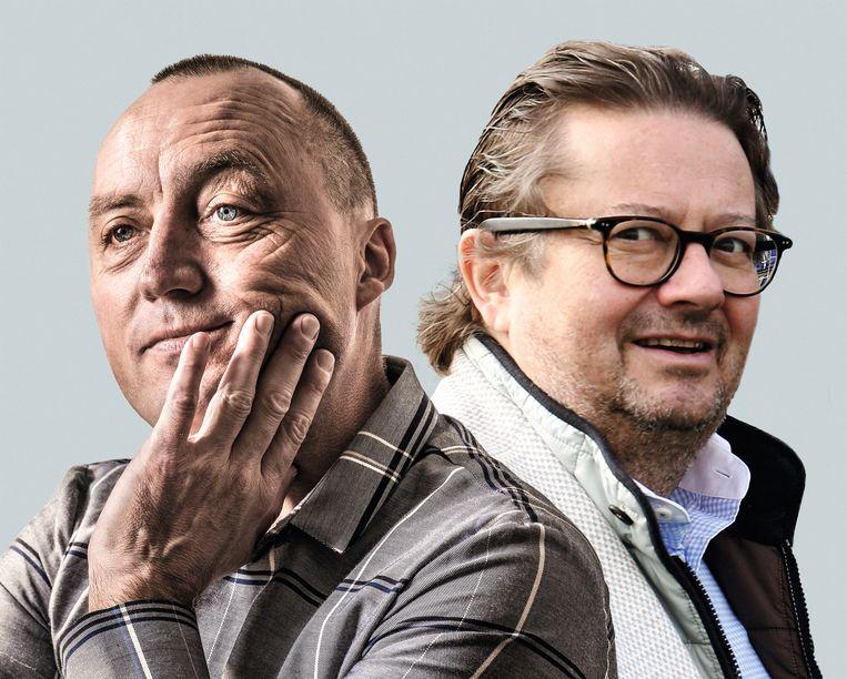 Wouter Vandenhaute en Marc Coucke. Beeld BELGA