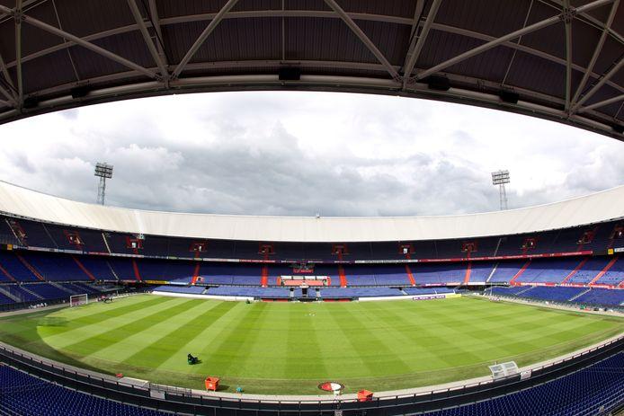 Een schrikbeeld voor de directie van Feyenoord: Tribunes van de Kuip die nog lange tijd leeg moeten blijven.