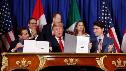 VS, Canada en Mexico ondertekenen vrijhandelsakkoord