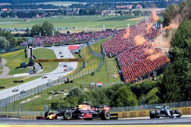 Grand Prix van Oostenrijk in 2019. Het Formule 1-seizoen begint dit jaar ook daar, op 5 juli op de Red Bull Ring in Spielberg. Beeld Red Bull Contentpool