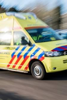 Automobilist gewond na botsing met bestelauto