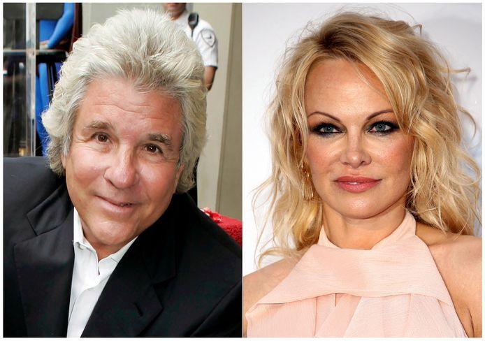 Jon Peters en Pamela Anderson.