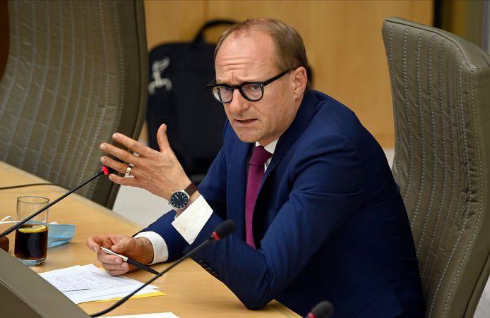 Minister van Onderwijs Ben Weyts: geld voor de digisprong voorwaarts. (Photo by Bert Van Den Broucke / Photonews)